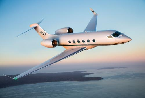 Gulfstream's G500, which made its first test flight last May, will be capable of traveling nonstop from Los Angeles to London.