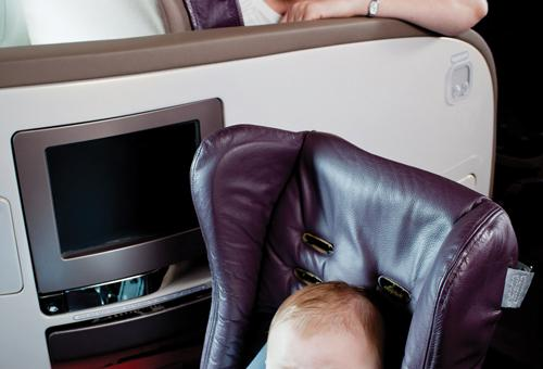 Safety seat protects pint-sized flyers