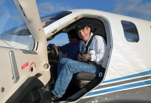 James Wynbrandt in a Socata TBM 900