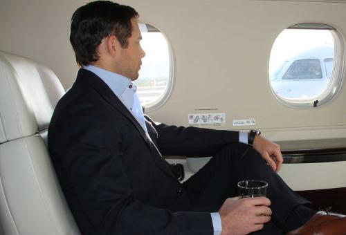 man in business jet