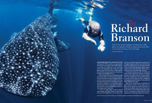 Richard Branson opening spread