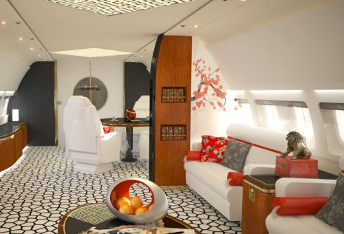 Business jet cabin