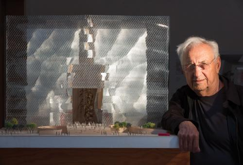 Frank Gehry's work on display at the National Museum of China