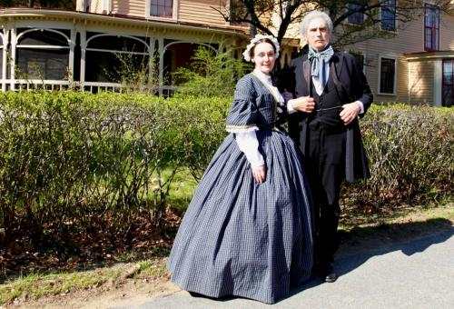 Actors portray Sophia and Nathaniel Hawthorne at his last home.