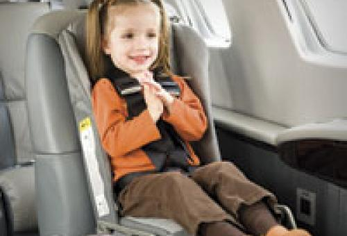 The FAA doesn't require child-restraint systems, but it recommends them. So d