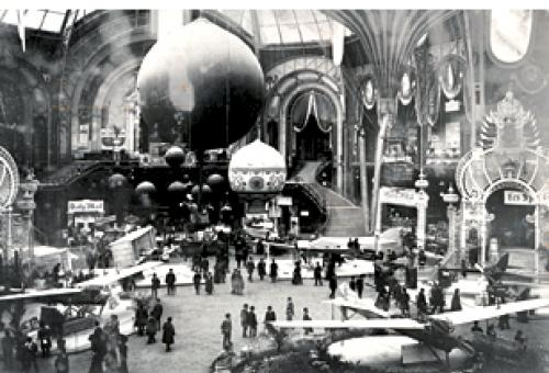 Paris' Grand Palais hosted the first-ever airshow in 1908. An entirely indoor