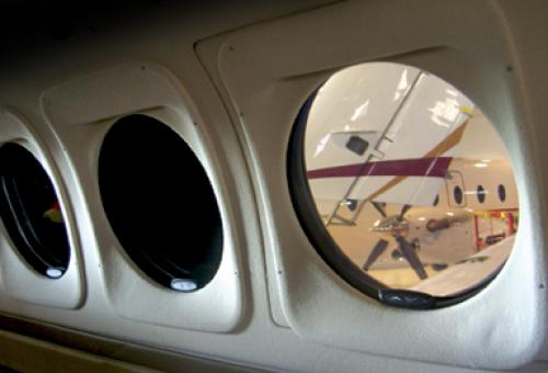 Hawker Beechcraft offers the SPD SmartGlass window as a retrofit for its King