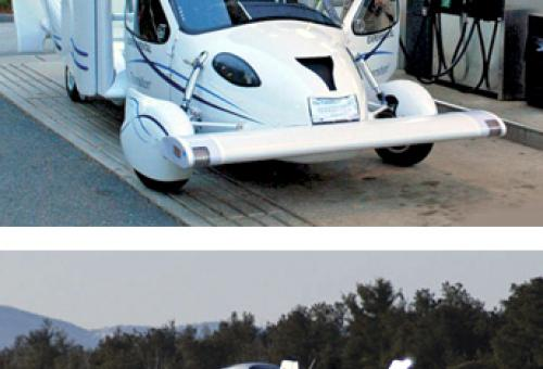 This car can turn into an airplane as quickly as Clark Kent changes clothes.
