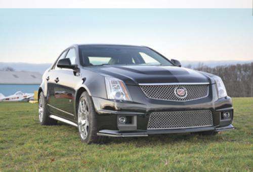 The CTS-V doesn't quite achieve the fit and finish of a BMW or Mercedes, but