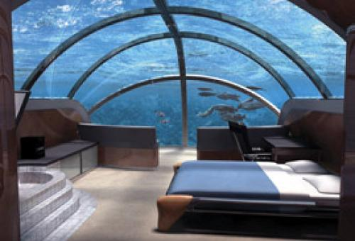 One glance out your window at Florida's Jules Undersea Lodge should be enough