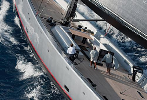 Amenities on one sailing yacht include 21-foot tenders for waterskiing or fis