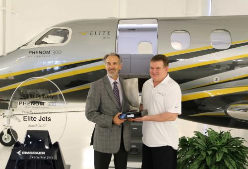 400th Embraer Phenom 300 delivery