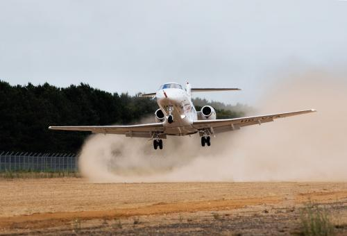 Pilatus PC-24 rough field testing