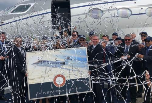 Gulfstream celebration
