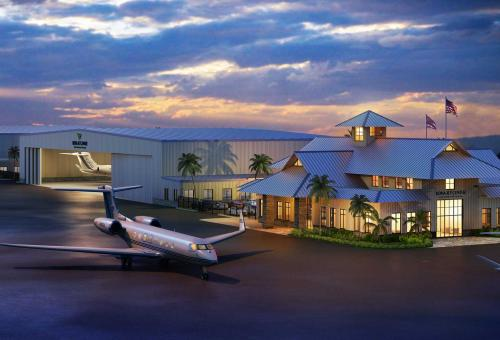 Artist rendering of the planned Kona Jet Center