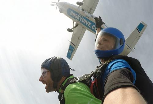 Skydive Raises $12K For Cancer Charity