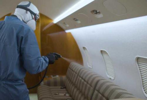 disinfecting aircraft cabin