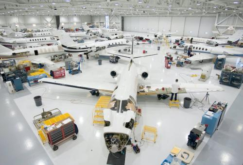 Textron maintenance bay